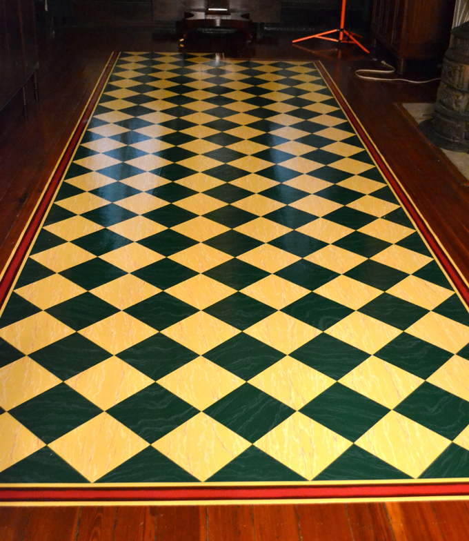 FLOORCLOTH: Painted Canvas For 1806 Hallway