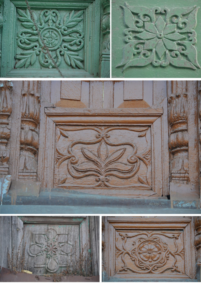 AL carved panels