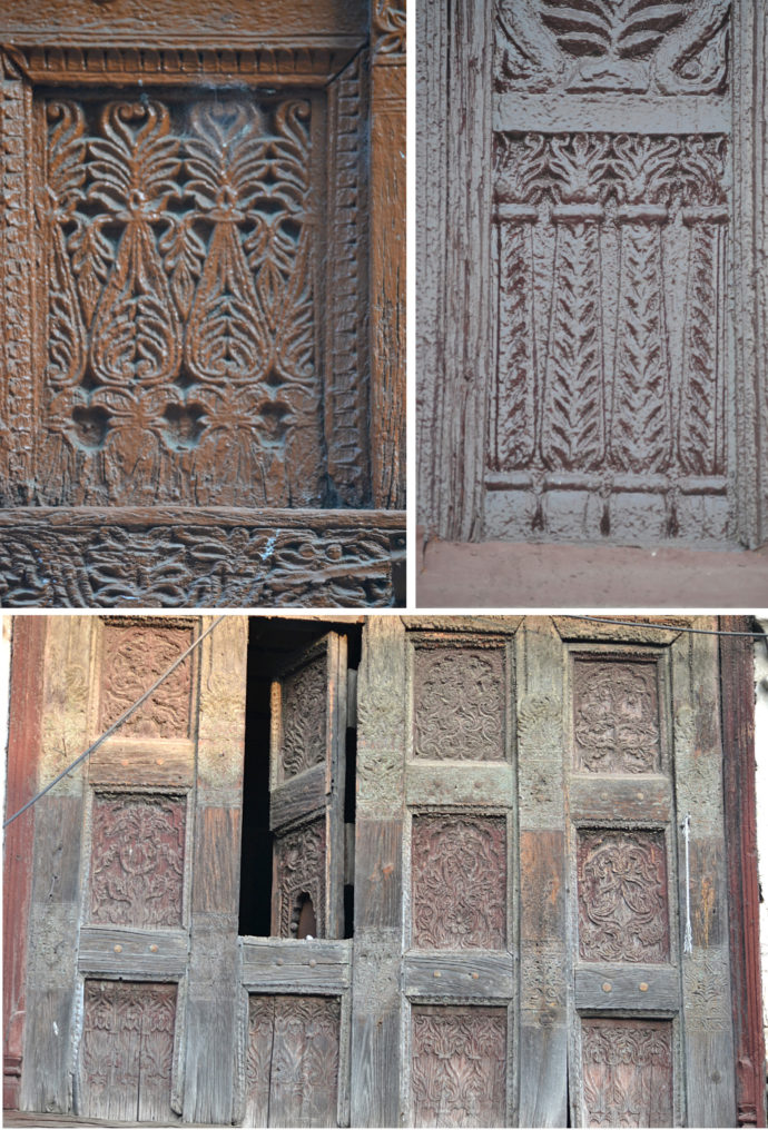 AL shallow brown carvings